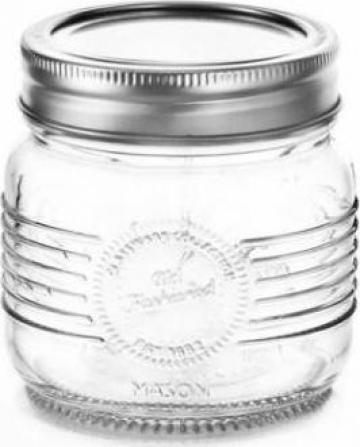 Borcan sticla Old Fashioned 0,25 L cu capac metalic de la Basarom Com