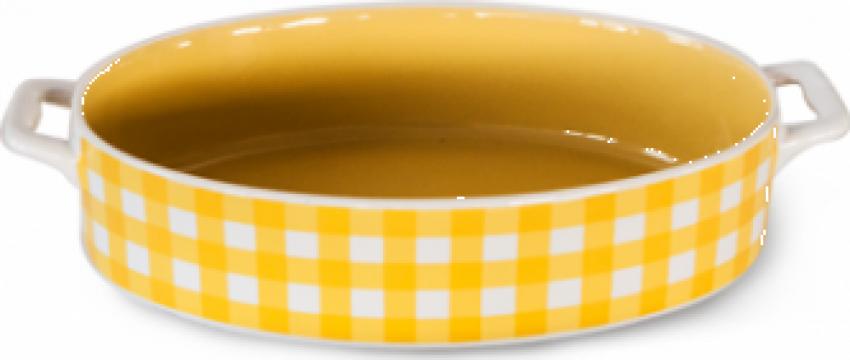 Tava ceramica oval pentru copt Kare 27,3x16,5x5cm galben de la Basarom Com