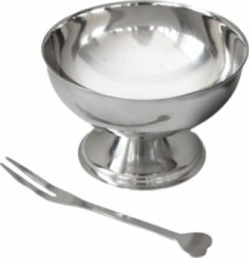 Cupa inox pentru inghetata Raki 9cm de la Basarom Com