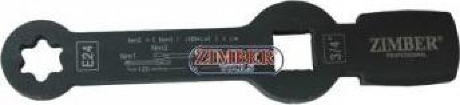 Cheie inelara impact pentru etrier camioane Torx E24 de la Zimber Tools