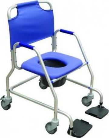 Fotoliu rulant pentru dus si scaun WC de la Handilug Srl