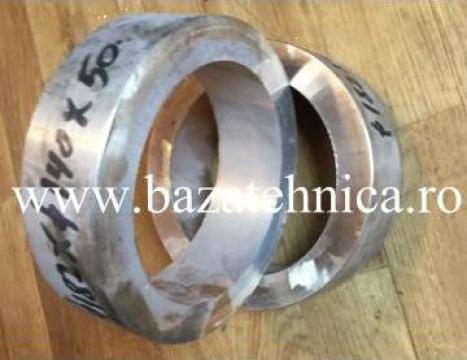 Bucsa bronz d140xD182x50mm, pentru presa hidraulica de la Baza Tehnica Alfa Srl
