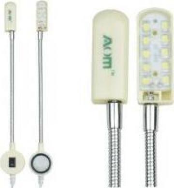 Lampa masina cusut 10 led, brat flexibil AOM-10A de la Sercotex International Srl