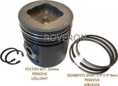 Piston kit cu segmenti Perkins 1004.4, 1006.6, 100mm