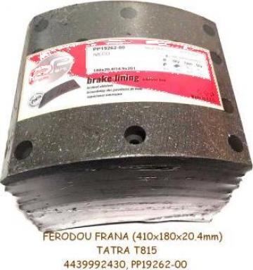 Ferodou frana Tatra T815, Tatra T163, Iveco (axa Perrot)