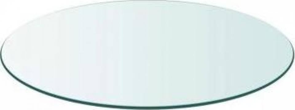Blat de masa din sticla securizata rotund 500 mm de la Vidaxl