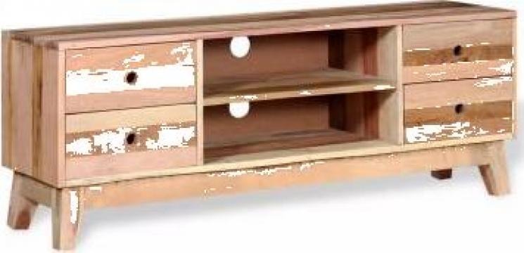 Comoda TV din lemn reciclat de esenta tare