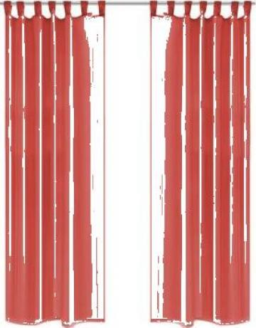 Draperii din voal 2 buc., 140 x 225 cm, rosu