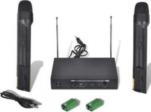 Set VHF receiver cu 2 microfoane fara fir de la Vidaxl