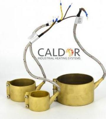 Rezistenta electrica duza Nozzle Heaters 100 x 45 x 700 w de la Caldor Industrial Heating Systems Srl