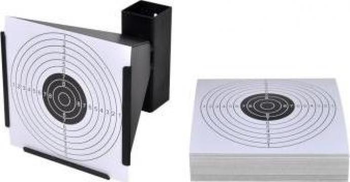 Suport pentru tir + 100 tinte de hartie 14 cm de la Vidaxl