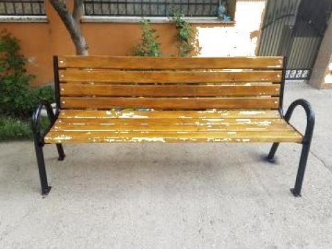 Banca de parc culoare stejar de la Ygrocris Dorally Steel Srl