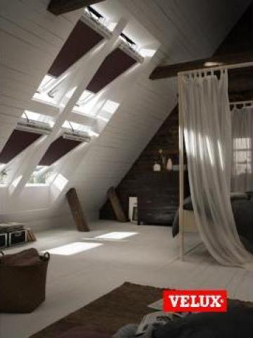 Fereastra de mansarda Velux Premium Electrica GGU 006621 de la Sc Ellcor Roof Srl-d