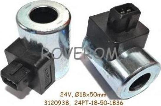 Bobina 24V, D18x50mm, conexiune electrica Junior timer (T) de la Roverom Srl