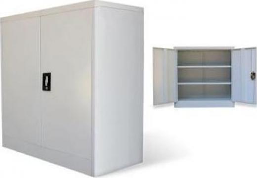 Dulap de birou cu 2 usi, 90 cm, gri, metal de la Vidaxl