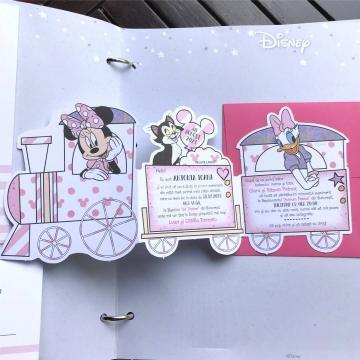 Invitatie botez fetita Trenuletul Minnie Mouse de la Simonne