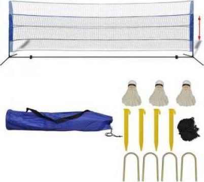 Set fileu de badminton, cu fluturasi, 500x155 cm de la Vidaxl