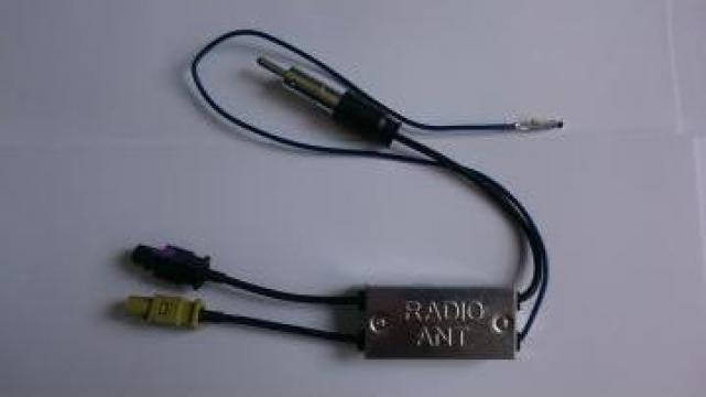 Antena radio dubla cu amplificator Opel, VW, Ford, Audi