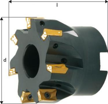 Cap de frezare 90 grade D63mm 8 taisuri APKT10 de la Electrotools