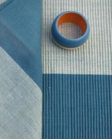 Fata de masa din bumbac 150x150cm albastra de la Basarom Com