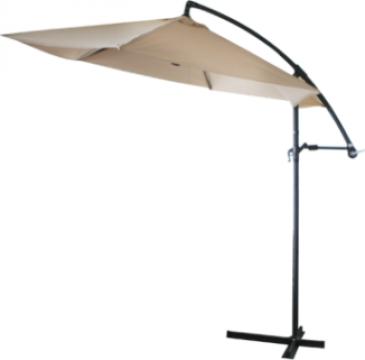 Umbrela soare suspendabila 300cm culoare alba de la Basarom Com