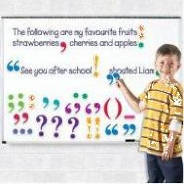 Joc educativ magnetic - Semne de punctuatie de la Eduvolt