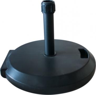 Suport rotund umbrela soare 35kg, culoare neagra de la Basarom Com