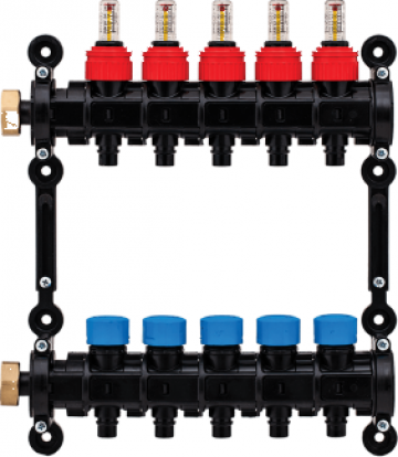 Distribuitor-colector modular, pentru tavan de la Sistema Comfort And Energy Saving