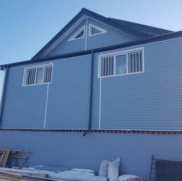 Siding american (lambriu PVC) 3.81x 0.205 m, culoare bleu