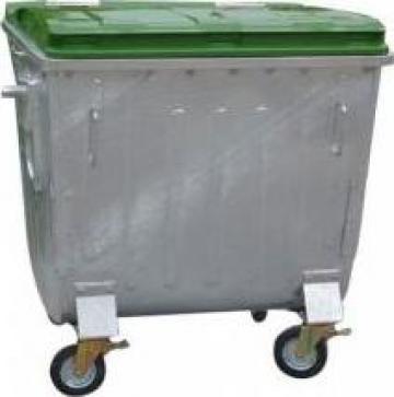 Container metalic cu capac plat 1100 litri de la Electrotools