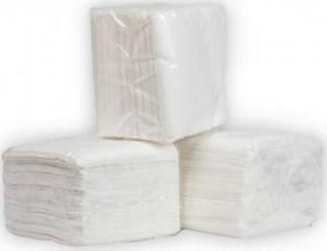 Servetele albe 25x25cm, 100 buc/pachet de la Cristian Food Industry Srl.