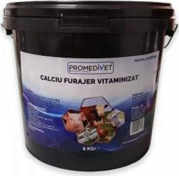 Calciu furajer vitaminizat de la Promedivet