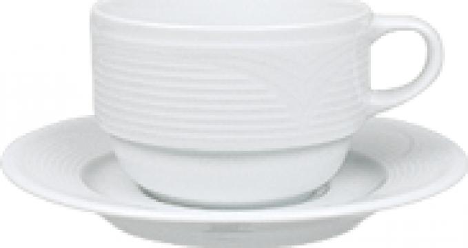 Ceasca ceai din portelan 230cc colectia Saturn de la Basarom Com