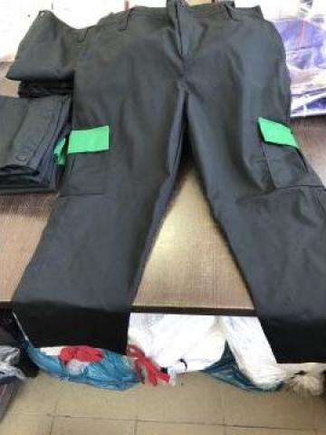 Pantalon de paza negru cu verde de la Sc Atelier Blue Srl