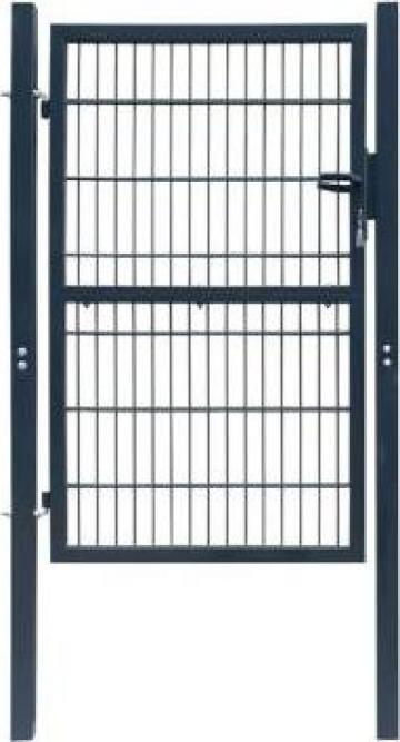 Poarta pentru gard din otel, 106 x 250 cm, antracit