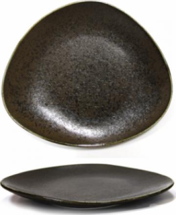 Farfurie desert Antique Black portelan 21cm de la Basarom Com