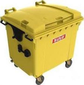 Container din plastic pentru gunoi 1100 litri de la Adimex Cleaning Srl