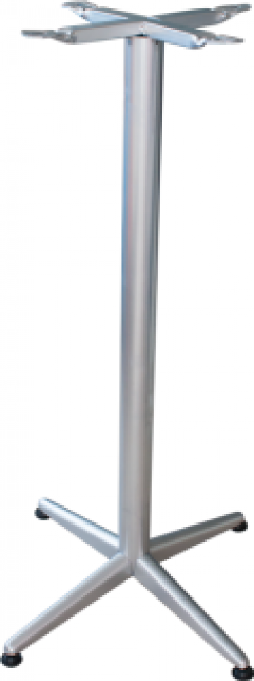 Picior, baza din aluminiu pentru masa bar gri clasik