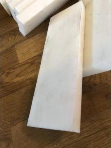 Placa poliuretan alb pentru lama deszapezire 25x100x300 mm