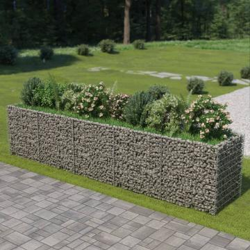 Jardiniera gabion, otel galvanizat, 450 x 90 x 100 cm