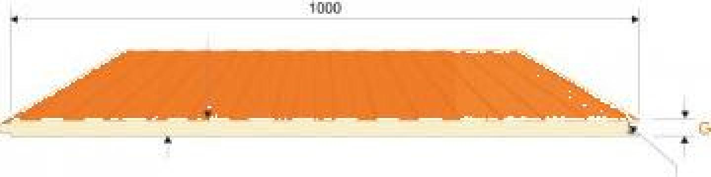 Panou sandwich perete prindere vizibila poliuretan de la Topanel Production Panels Sa