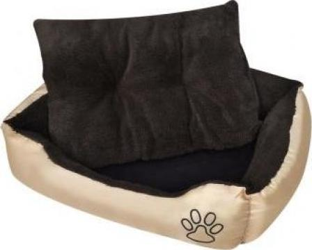 Pat cald pentru caini, cu perna captusita, XL de la Vidaxl