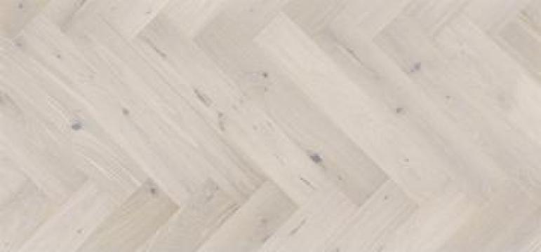 Parchet in 3 straturi Stejar Cappuccino Herringbone de la Alveco Montaj Srl