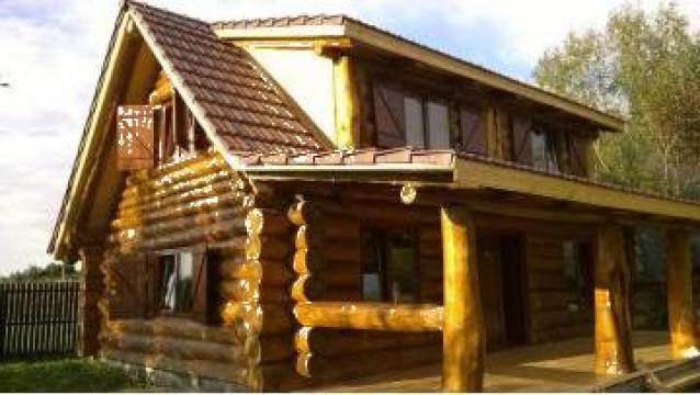 Cabana Lemn Rotund Casa De Vacanta Din Bustean Varsag Sc Prod Tarnava Srl Id 19800221