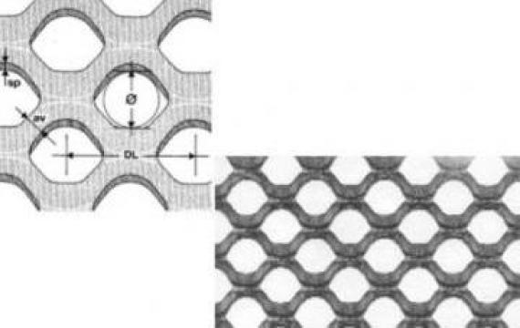 Table expandata cu gauri rotunde