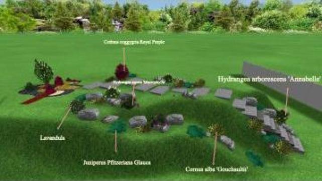 Proiectare peisagistica 3D de la Sc Romgazon Trade Srl