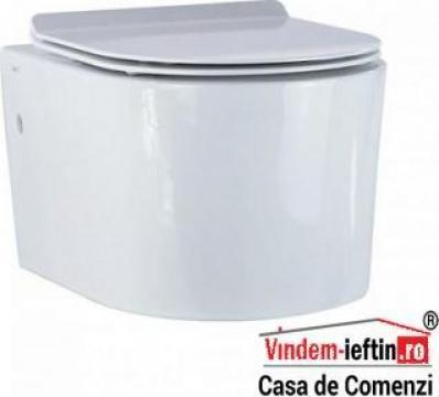 Vas WC Novela suspendat cu capac Soft Close 525x370x335 de la Vindem-ieftin.ro