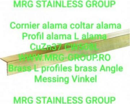 Cornier alama 15x15x1.5 CuZn37 Profil L coltar aluminiu inox de la MRG Stainless Group Srl