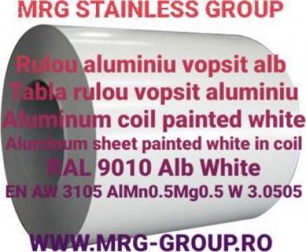 Tabla rulou aluminiu vopsit alb 1x1000 RAL 9010 AW 3105 1050 de la MRG Stainless Group Srl