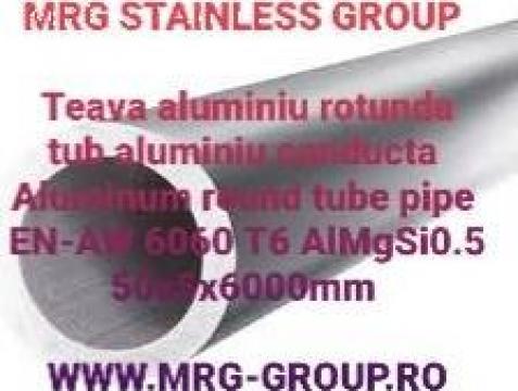 Teava aluminiu rotunda 50x5 conducta tub EN-AW 6060 T6 inox de la MRG Stainless Group Srl